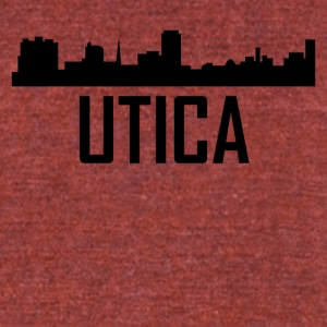 Utica New York City Skyline - Unisex Tri-Blend T-Shirt by American Apparel