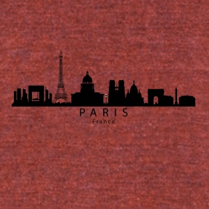 Paris France Skyline - Unisex Tri-Blend T-Shirt by American Apparel