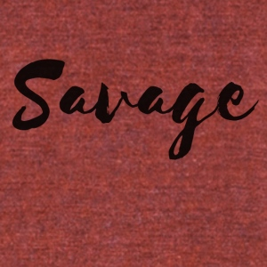 Savage - Unisex Tri-Blend T-Shirt by American Apparel