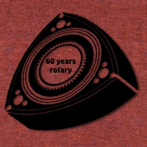 60 years rotary - Unisex Tri-Blend T-Shirt by American Apparel