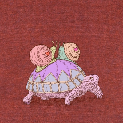 lovely snails wedding - Unisex Tri-Blend T-Shirt