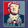Trump Grab Em Cat Poster - Unisex Tri-Blend T-Shirt