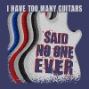Too Many Guitars - Unisex Tri-Blend T-Shirt