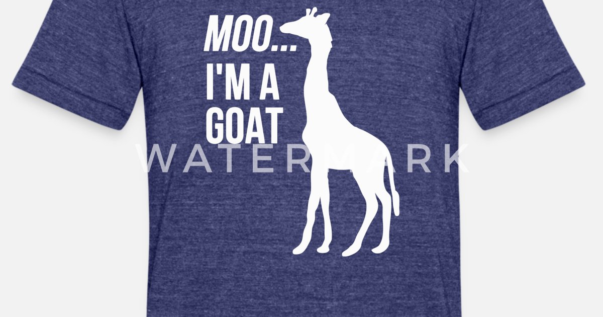 aec9e963 Moo Im A Goat Funny Cute Animal Unisex Tri-Blend T-Shirt   Spreadshirt