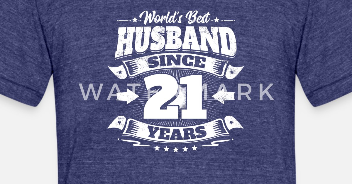 21st Wedding Anniversary Gifts For Husband: Wedding Day 21st Anniversary Gift Husband Hubby Unisex Tri