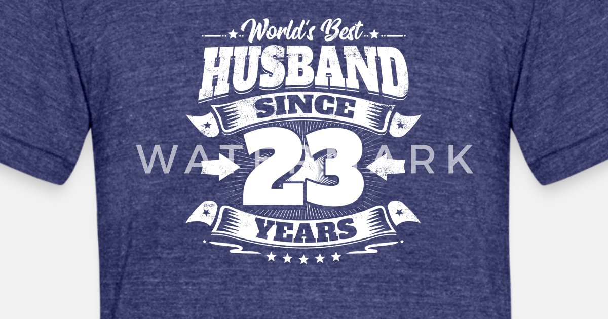 23rd Wedding Anniversary Gift Ideas: Wedding Day 23rd Anniversary Gift Husband Hubby Unisex Tri