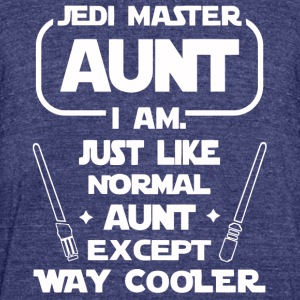 Jedi master Aunt I am - Unisex Tri-Blend T-Shirt by American Apparel