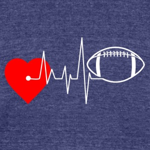 Heartbeat Football - I Love Football - Unisex Tri-Blend T-Shirt by American Apparel