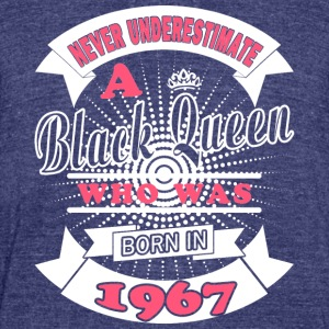 Black Queens are born in 1967 - Unisex Tri-Blend T-Shirt by American Apparel