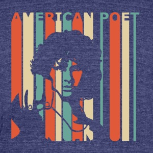 American Poet - Unisex Tri-Blend T-Shirt by American Apparel