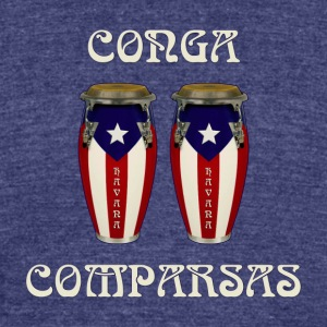conga comparsas - Unisex Tri-Blend T-Shirt by American Apparel