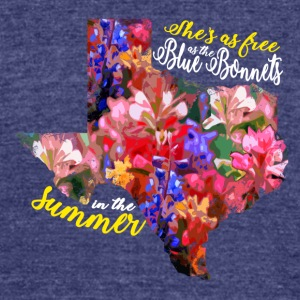 Free as Bluebonnets in the summer - Unisex Tri-Blend T-Shirt by American Apparel