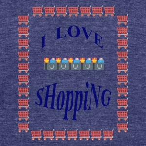 I love shopping Tshirt - Unisex Tri-Blend T-Shirt by American Apparel