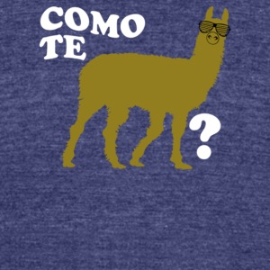 Como Te Llama - Unisex Tri-Blend T-Shirt by American Apparel