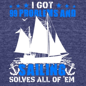 Sailing Shirt - Unisex Tri-Blend T-Shirt by American Apparel