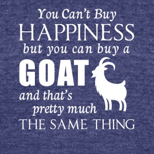 Happiness Goats T-Shirt - Unisex Tri-Blend T-Shirt by American Apparel