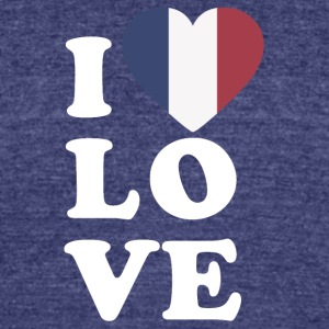 I love france - Unisex Tri-Blend T-Shirt by American Apparel