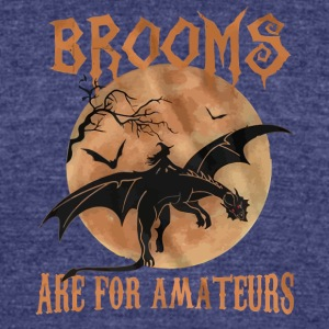 Brooms are for Amateurs halloween shirt - Unisex Tri-Blend T-Shirt by American Apparel