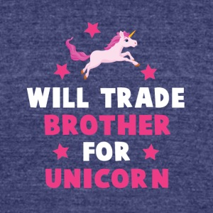 will trade brother - Unisex Tri-Blend T-Shirt by American Apparel