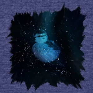Galaxy Duckling in Space - Unisex Tri-Blend T-Shirt by American Apparel