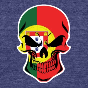 Portuguese Flag Skull - Unisex Tri-Blend T-Shirt by American Apparel