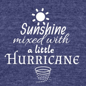 Sunshine mixed with a little Hurricane - Unisex Tri-Blend T-Shirt by American Apparel
