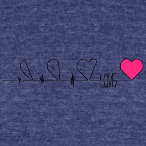 love - Unisex Tri-Blend T-Shirt by American Apparel