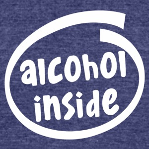 alcohol inside (1841B) - Unisex Tri-Blend T-Shirt by American Apparel