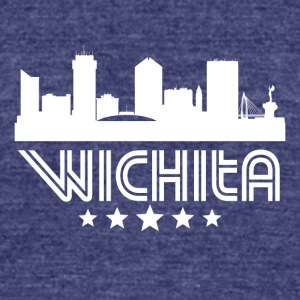Retro Wichita Skyline - Unisex Tri-Blend T-Shirt by American Apparel