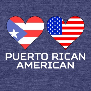 Puerto Rican American Hearts - Unisex Tri-Blend T-Shirt by American Apparel