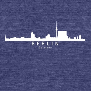 Berlin Germany Skyline - Unisex Tri-Blend T-Shirt by American Apparel