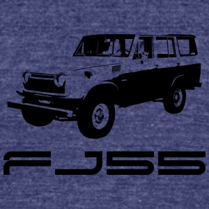 FJ55 BLACK LINE ART WITH LABEL - Unisex Tri-Blend T-Shirt by American Apparel