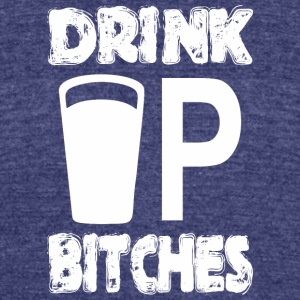 Drink Up Bitches Saint Patricks Day - Unisex Tri-Blend T-Shirt by American Apparel