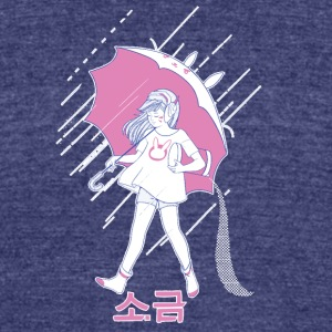 MEKA Salt Pink - Unisex Tri-Blend T-Shirt by American Apparel