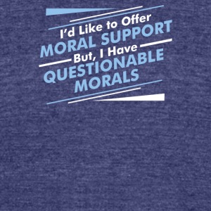 Moral Support - Unisex Tri-Blend T-Shirt by American Apparel