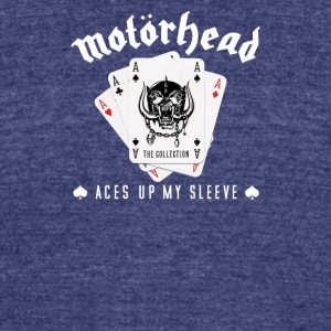 Motor head Aces Up Lemmy Kilmister Heavy Metal - Unisex Tri-Blend T-Shirt by American Apparel
