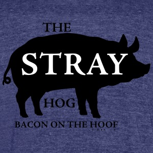 TheStrayHog Original Design - Unisex Tri-Blend T-Shirt by American Apparel