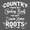 Country from my cowboy boots to my down home roots - Women's Flowy Tank Top by Bella