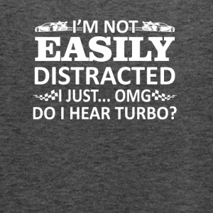 Not Easily Distracte I Hear Turbo Racing - Women's Flowy Tank Top by Bella