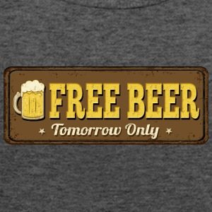 Retro vintage signboard free beer vector image art - Women's Flowy Tank Top by Bella