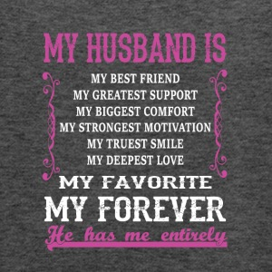 My Husband is My Best Friend T Shirt - Women's Flowy Tank Top by Bella