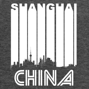 Retro Shanghai Skyline - Women's Flowy Tank Top by Bella