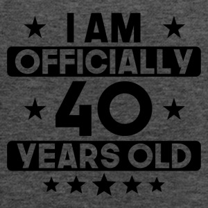 I Am Officially 40 Years Old 40th Birthday - Women's Flowy Tank Top by Bella