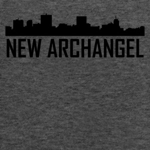 New Archangel Alaska City Skyline - Women's Flowy Tank Top by Bella