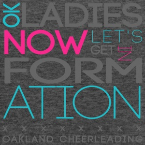 k Ladies Now Let s Get In Formation Oakland Cheerl - Women's Flowy Tank Top by Bella