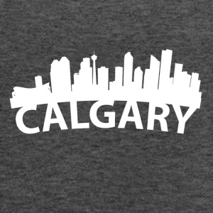 Arc Skyline Of Calgary Alberta Canada - Women's Flowy Tank Top by Bella