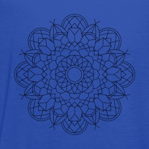 Mandala Oldschool Ink Hipster Illustration 52 - Women's Flowy Tank Top by Bella
