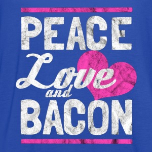Peace, love and bacon - Gift for bacon lover - Women's Flowy Tank Top by Bella