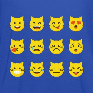 Cute Cat Emojis tshirt - Funny Cat Christmas gift - Women's Flowy Tank Top by Bella