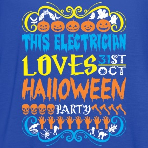 This Electrician Loves 31st Oct Halloween Party - Women's Flowy Tank Top by Bella